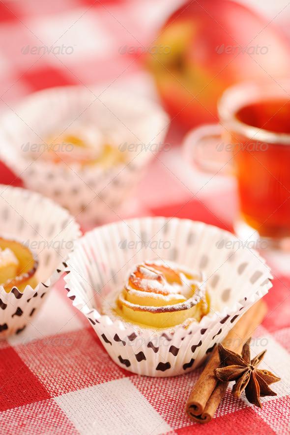 Apple pies dessert - Stock Photo - Images