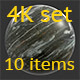 Stone black 4K Texture set 10 items