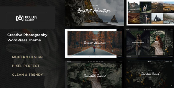 Oculus - Photography WordPress Theme