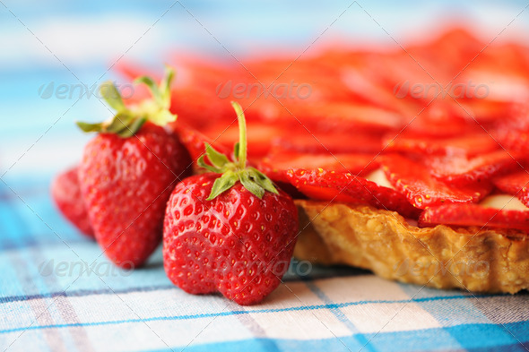Strawberry tart - Stock Photo - Images