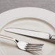 Close up View of Cutlery on Empty Plate on Grey Surface - PhotoDune Item for Sale