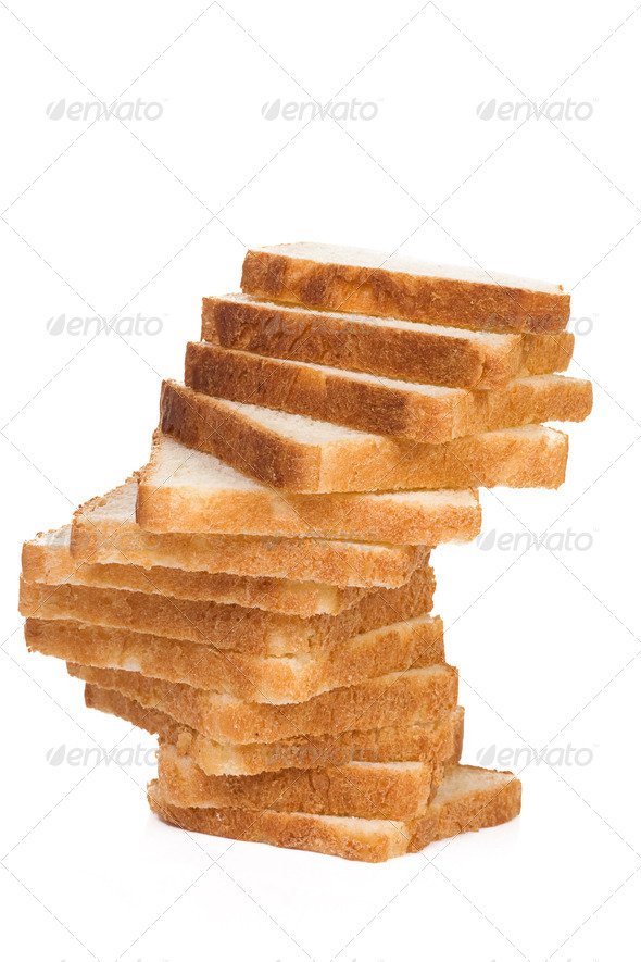 isolated sliced bread on white - Stock Photo - Images