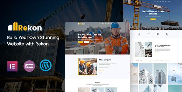 Rekon – Construction WordPress Theme