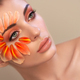 Portrait of beautiful young woman with makeup petals - PhotoDune Item for Sale