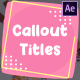 Cartoon Callout Titles | After Effects - VideoHive Item for Sale
