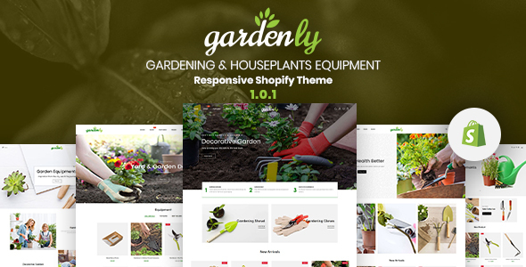 Gardenly – Gardening & Houseplants Equipment Responsive Shopify Theme