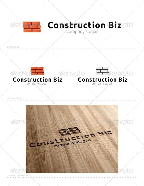 Construction Biz - Buildings Logo Templates