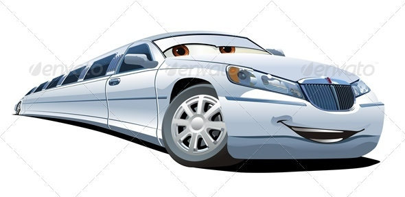 Vector Cartoon Limousine - Miscellaneous Characters
