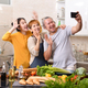 Family cooking in kitchen together - PhotoDune Item for Sale