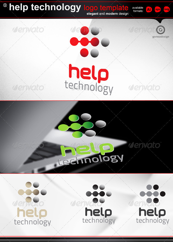 Help technology  - Abstract Logo Templates