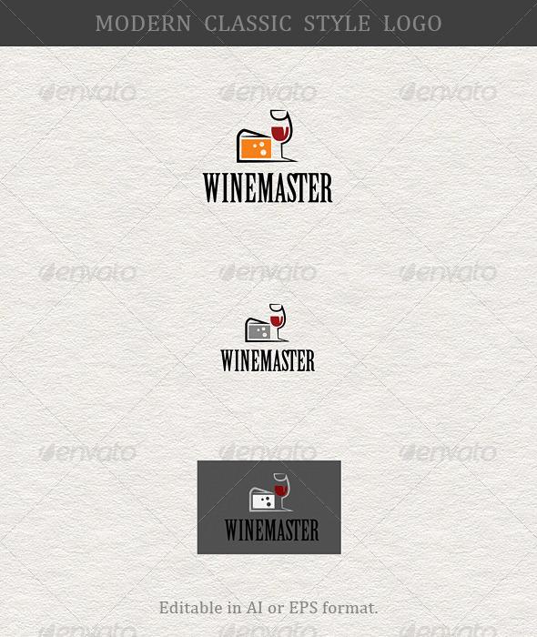 Wine Master; Wine Taster; Wine Lover - Food Logo Templates