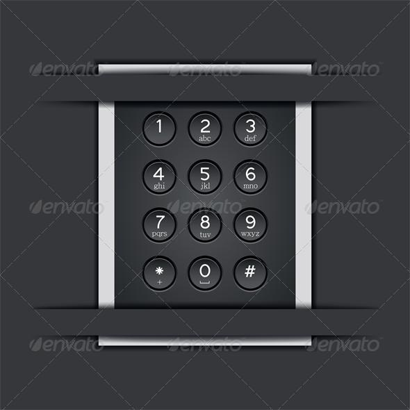 Vector phone keypad background - Media Technology