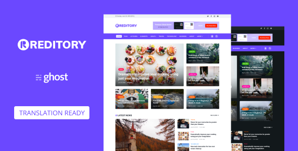 Reditory - News and Magazine Style Ghost Blog Theme
