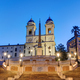 The Trinita dei Monti church and the famous Spanish Steps - PhotoDune Item for Sale
