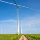 Modern wind turbines and a country road - PhotoDune Item for Sale