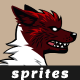 Red Wolf Sprites | Game Asset Character