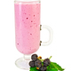 Milkshake in goblet of blackberry and leaf - PhotoDune Item for Sale