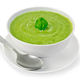 Soup puree with spinach in bowl with spoon - PhotoDune Item for Sale