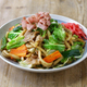 yaki udon , a kind of  japanese udon noodle dish, pan fried udon noodles with meat and vegetables - PhotoDune Item for Sale