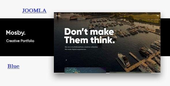 Mosby - Creative Portfolio Joomla Template