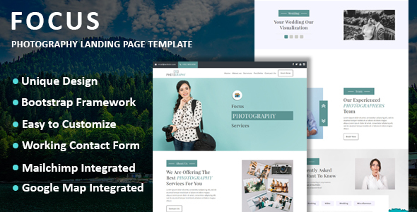 Focus - Photography Landing Page Template