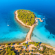 Aerial view of beutiful small island in sea bay at sunny day - PhotoDune Item for Sale