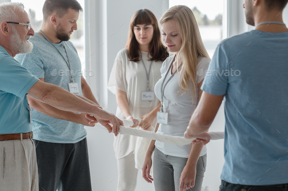 Practicing together in a group - Stock Photo - Images