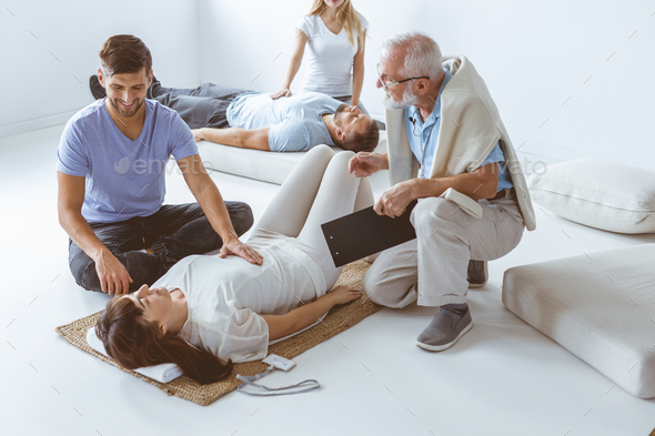 Learning how to massage - Stock Photo - Images