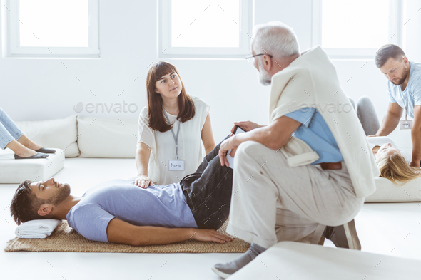 Massaging the stomach - Stock Photo - Images