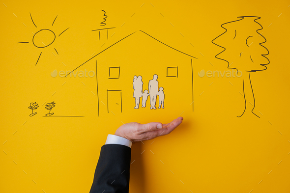 Conceptual image of insurance and safety - Stock Photo - Images
