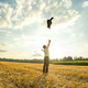 Businessman Throwing Coat in the Air at the Field - PhotoDune Item for Sale