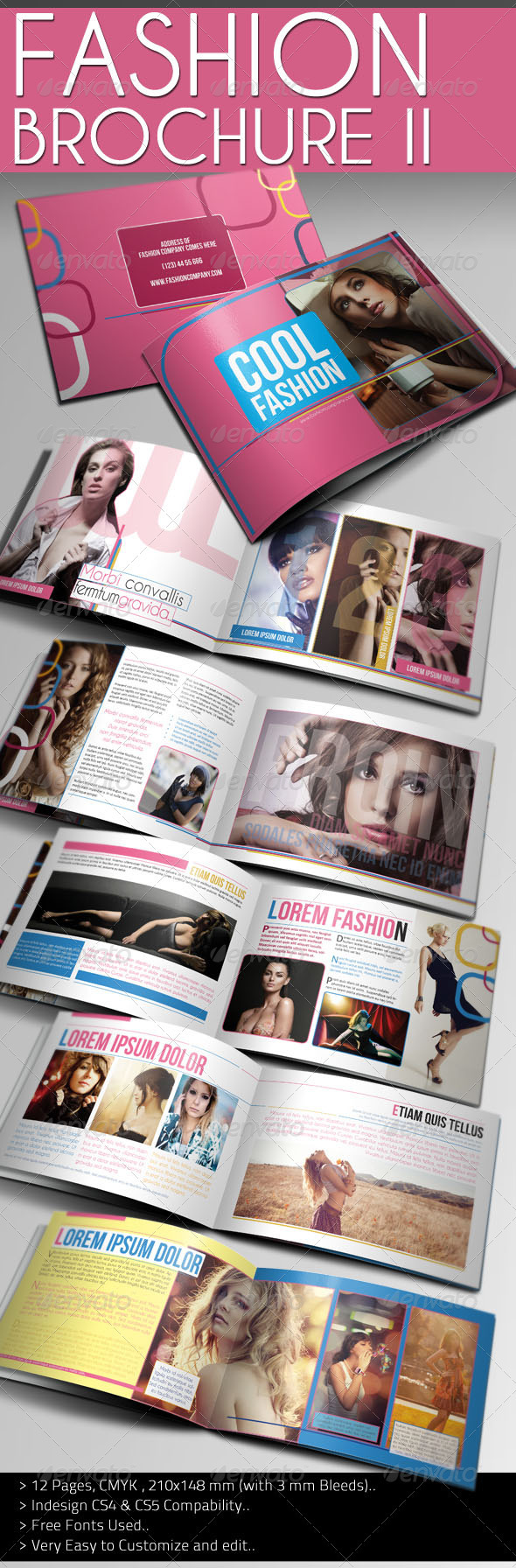 Cool Fashion Brochure - Brochures Print Templates