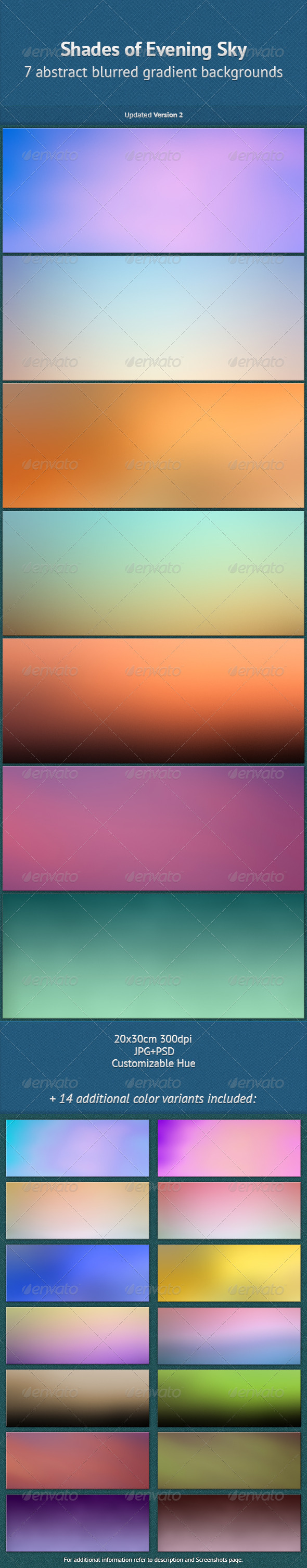 Shades of Evening Sky - Abstract Backgrounds