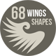 68 Photoshop Wing Shapes - GraphicRiver Item for Sale