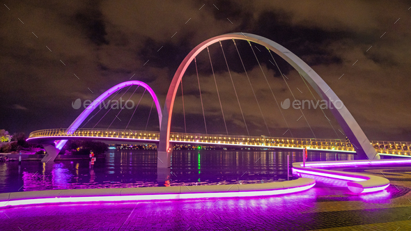 Elizabeth Quay Bridge - Stock Photo - Images