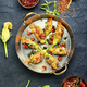 Fried zucchini flowers with filling. - PhotoDune Item for Sale