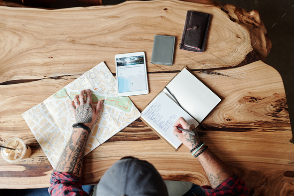 Thinking about travel timing - Stock Photo - Images