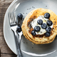 Banana Oat Pancake with fresh Blueberry and Coconut whipped cream - PhotoDune Item for Sale