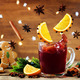 Mulled wine with flying ingredients to prepare it - PhotoDune Item for Sale