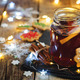 Mulled wine with gingerbread cookies and Christmas light - PhotoDune Item for Sale
