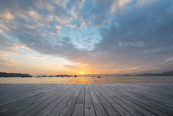 sunrise by the sea in xiapu - Stock Photo - Images