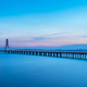 cable-stayed bridge in nightfall - PhotoDune Item for Sale