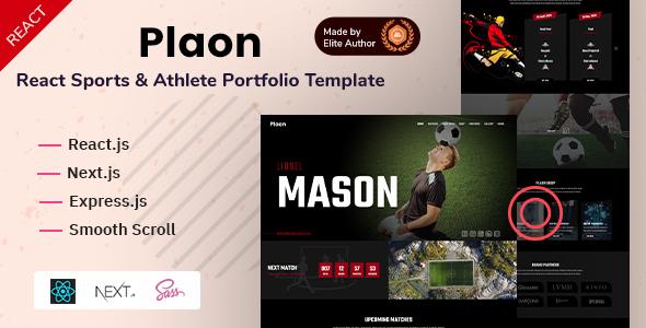 Plaon - React Sports & Athlete Portfolio Template