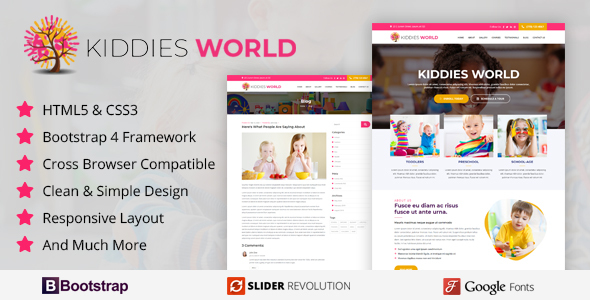 Download kiddies World - Responsive HTML Template }}