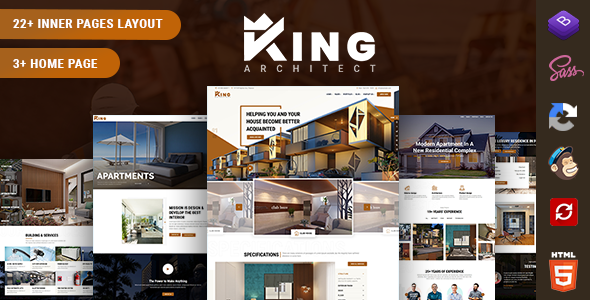 Download KingArchitect - Creative Interior Design Website Template }}