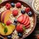 Flat lay of fruit healthy muesli - PhotoDune Item for Sale