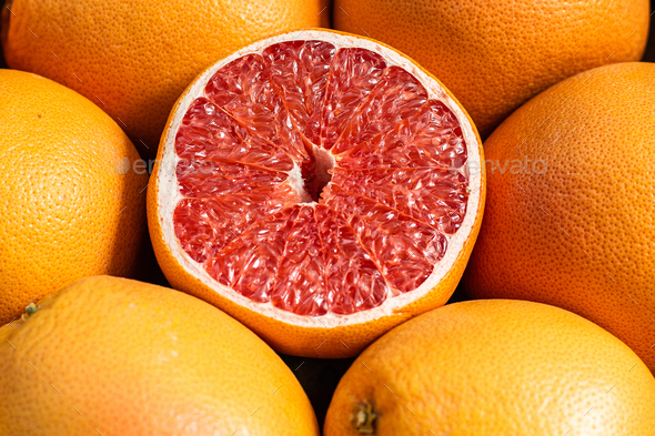 Group of oranges ready for sale on the market - Stock Photo - Images