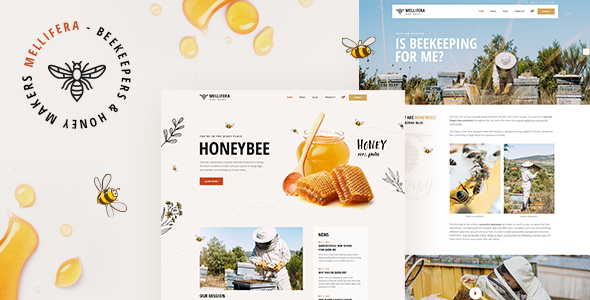 Mellifera – Beekeeping and Honey Shop Theme