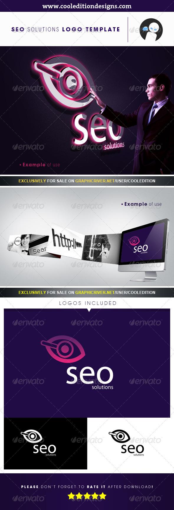 SEO Solutions - Logo Template - Symbols Logo Templates