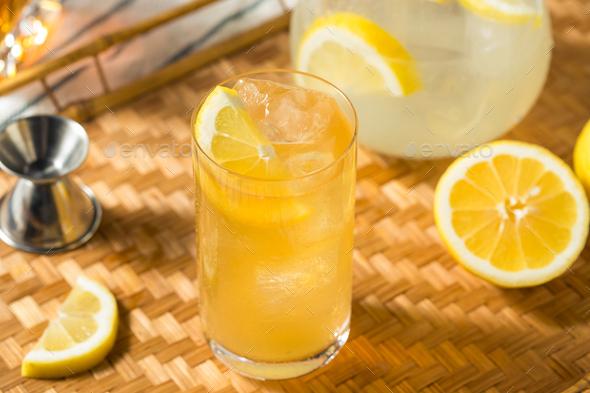 Refreshing Sweet Bourbon Lemonade - Stock Photo - Images